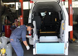 車いす固定装置、点検・修理